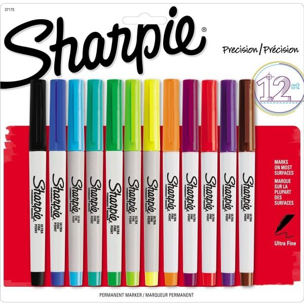 sharpie markerite komplekt ultra fine 12tk