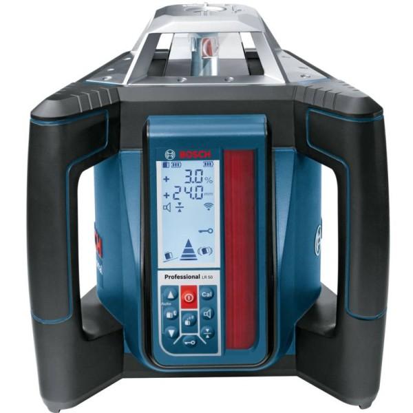 Pöördlaser Bosch GRL 500 HV + LR 50 pult-vastuvõtja