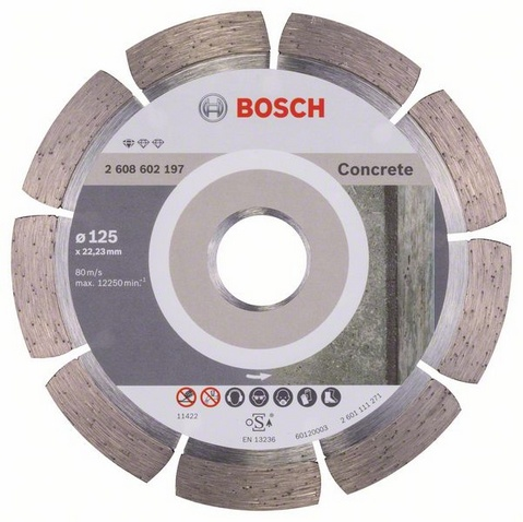 Teemantketas 125mm Bosch Standard Concrete